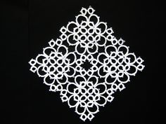 Square tatted doily