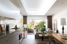 A major renovation of the interior allows this space to blend effortlessly with its outdoor area.