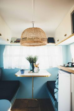 How we transformed a tired vintage caravan into our ultimate holiday home on wheels; Meet Millie - Cedar & Suede