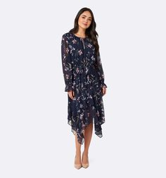 Tia asymmetric frill maxi dress Midnight Garden Print - Womens Fashion | Forever New Midnight Garden, Fashion Forever, Forever New, No Frills, Womens Fashion, Inspiration, Outfits, Dresses, Biblical Inspiration