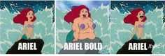 If fonts were Disney characters...