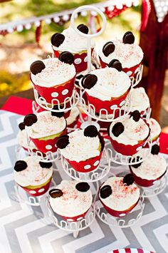 Mickey Mouse cupcakes for a Mickey Mouse Birthday Party