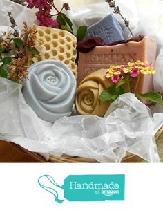 Handcrafted Soap Gift Basket - Assorted Soaps Five Piece All Natural Artisan .. Variety of Bars And Scents Handmade ! from Natural Handcrafted Soap Company https://www.amazon.com/dp/B01N1FBN1G/ref=hnd_sw_r_pi_dp_vFbFybCHH67C6 #handmadeatamazon