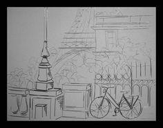 """""""Passeio de bicicleta em Paris"""" • By Cláudia Lente"""