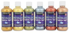 Sargent Art fine quality tempera paint creates rich, metallic faux and patina finishes on wood, paper or plastic.