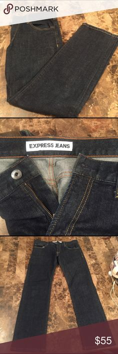 EXPRESS MENS JEANS SLIM FIT STRAIGHT LEG ROCCO EXPRESS MENS JEANS SLIM FIT STRAIGHT LEG ROCCO SIZE 33X 32 Express Jeans Slim Straight