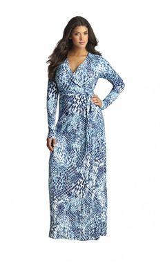 Mynt 1792 Jersey Wrap Maxi Dress (Plus Size) Plus Size Maxi Dresses, Plus Size Outfits, Women's Dresses, Curvy Women Fashion, Plus Size Fashion, Woman Fashion, Plus Size Kleidung, Maxi Wrap Dress, The Dress