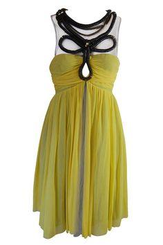 THAT SPECIAL DRESS: Ruth Tarvydas - Sunray yellow tulle dress.
