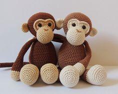 Haakpatroon aapjes Michel en Robin Amigurumi door PoppaPoppen