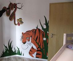 Jungle Book's characters inspired wall mural Pereti pictati inspirati din Cartea Junglei