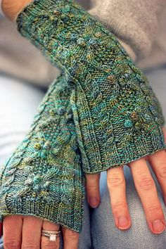Ravelry: Queen St. Mitts pattern by Glenna C.