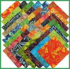 Monaco Balis by Benartex 21 pc Charm Pack by quiltpatternsandmore, $5.00