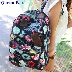 famous brands women canvas backpack women bags ladies travel bag school bags students backpacks canvas rucksack