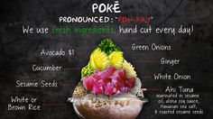 What's in a Poke Bowl by thebigdaddyshack #Infographic #Poke_Bowl
