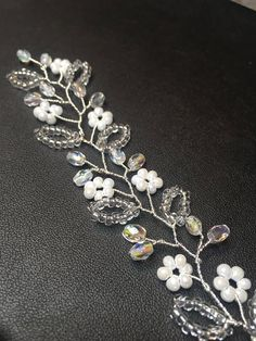Silver hair vine silver hair vine silver bridal headband