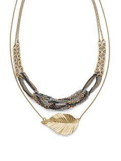 Cookie Lee Jewelry. 3 looks in 1 necklace, mixed metals. cookieelee.biz/drucorwin