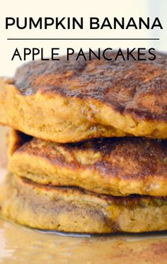 Amy Robach and her husband Andrew Shue joined Dr Oz to reveal one of their own family recipes: Pumpkin Banana Apple Pancakes that are perfect for getting healthy food to a crowd of kids!