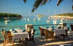 Palmizana beach, Pakleni Islands - Visit-Hvar, Croatia ~ Dinner here after a boating excursion?