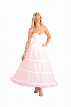 prom bridal wedding dress gown high waist shapewear lingerie full long tulle skirt slip petticoat Vintage 1950s white crinoline XL
