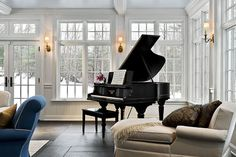 piano, not so much -- but the link has an outside pic of this sunroom that is lovely.