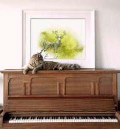 Art print_watercolor drawing_animal_handmade  by JameslimARTstudio