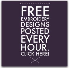 I Sew Free – Your source for FREE embroidery designs, quilting and sewing patterns, and other resources!