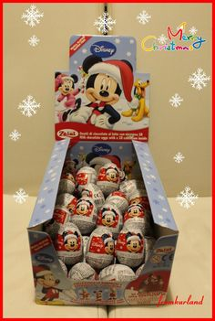 Chocolate Surprise Eggs With Toy Inside- Disney Cristmas