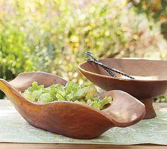 Vintage Wood Carved Bowls #potterybarn
