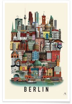 Berlin en Affiche premium par Martin Schwartz | JUNIQE