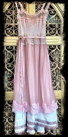 taupe whisper pink & ivory chiffon tulle by mermaidmisskristin, $160.00