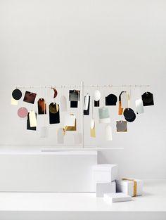 DIY Modern Advent Calendar   Christmas   Holidays   Ikea Hack