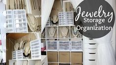 bedroom wardrobes artificial jewellery storage idea - YouTube