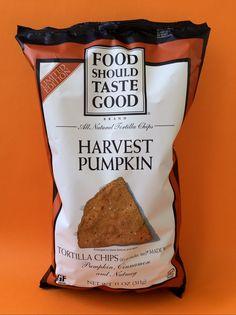 Food Should Taste Good Harvest Pumpkin Chips. Vegan Treats, Vegan Food, Vegan Recipes, Snack Recipes, Food Should Taste Good, Good Food, Vegan Chips, Vegan Products, Tortilla Chips