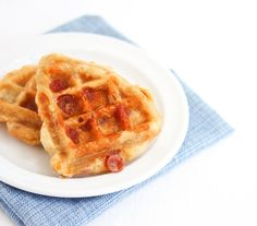 Pepperoni Pizza Waffles: Just add pepperoni or salami and mozzarella to Bisquick mix