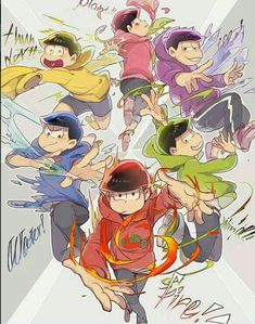 fire oso, water kara, wind choro, crystal ichi, lightning jyushi, and plant (flower) todo