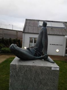 These were created in Holland Park in London in his back garden and shipped over to northern Ireland as a gift.  Part of the gallery is a garden.