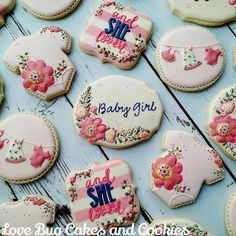 #8 - Floral Baby Shower by Love Bug Cookies