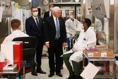 Live Updates: F. Plans to Announce Emergency Use of Coronavirus Drug : Vice President Mike Pence visits the molecular testing lab at Mayo Clinic Tuesday, without a mask. Air Force Two, Karen Pence, Dog Competitions, Voice Of America, Safety Precautions, Scientific American, Mike Pence, Tough Guy, Obama Administration