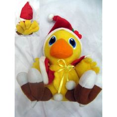 Final Fantasy: 6-inch Chocobo Plush Doll - Santa Clause >>> Continue to the product at the image link. (This is an affiliate link) #PlushFigures