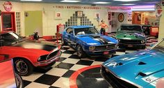 Surf City Garage is more than a car care product manufacturer, they're enthusiasts with a passion for classic musclecars. Their shop is like a toy store for grown ups, and we saw it all at their annual car show. Mustang Club, 1965 Mustang, Old School Muscle Cars, Volkswagen, Dream Car Garage, Classic Mustang, Surf City, Car Ford, American Muscle Cars