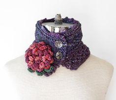 Peony floral Scarf  purple scarf floral by ValerieBaberDesigns