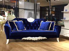 Sofa avangarde nerowood furniture blue from turkey inegol