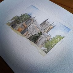 Cathedral watercolour