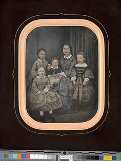 Woman with Four Children, 1850s, daguerreotype by Alexandre Bertrand (French, b. 1822)