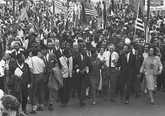 dr. martin luther king jr. leads civil rights voting march, selma, al in 1965