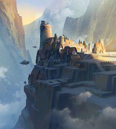 Cliff Town by artist Ast Ralf.