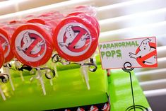 Polka Dot Pinwheel Parties's Birthday / Ghostbusters - Photo Gallery at Catch My Party Ghostbusters Birthday Party, Halloween Birthday, Geek Party, Decorating Supplies, Cake Decorating, 6th Birthday Parties, Party Time, Party Ideas, Birthdays