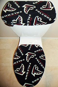 NFL ATLANTA FALCONS Fleece Toilet Seat Cover Set Football