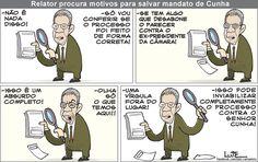 Charge do Lute sobre Eduardo Cunha (03/07/2016). #Charge #Cunha #PMDB #HojeEmDia