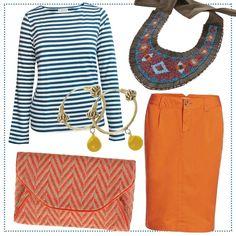 essential-blue-orange-casual #bevonboch #beinstyle